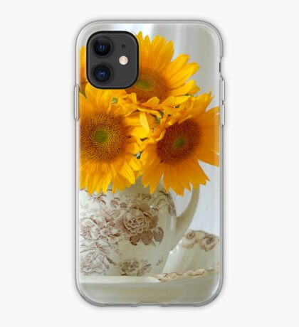 Sunflowers in Pitcher - iPhone Case iPhone Case