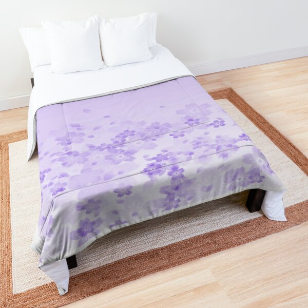 Sakura Subduction - Frosted Lilac Comforter