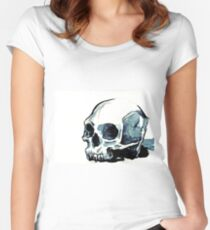 Ink Skull 8 Women's Fitted Scoop T-Shirt
