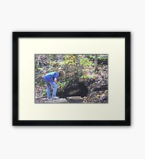 Exploring the Rabbit Hole Framed Print