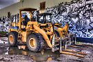 Two Dozers & an Art Wall by Bill Wetmore