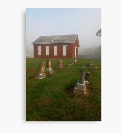 Little Red Church on the Hill Canvas Print