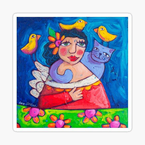 Hola! Lovebirds Sticker