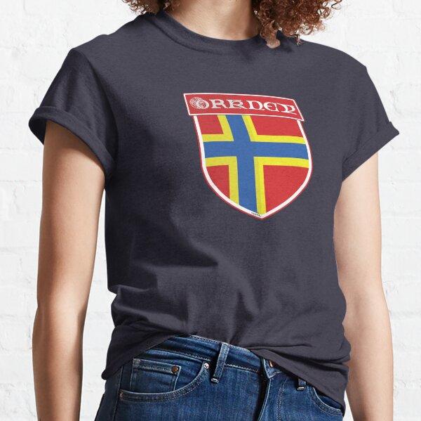 ORKNEY ISLANDS Orcadian Flag Shield SCOTLAND UK Scottish Sticker Decal & T-Shirt Classic T-Shirt