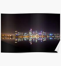 Perth City at Night  Poster