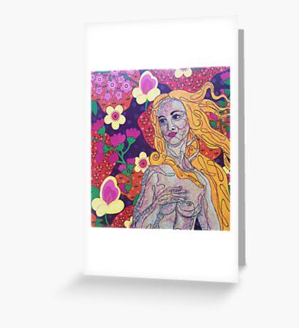 Venus goes Retro Greeting Card