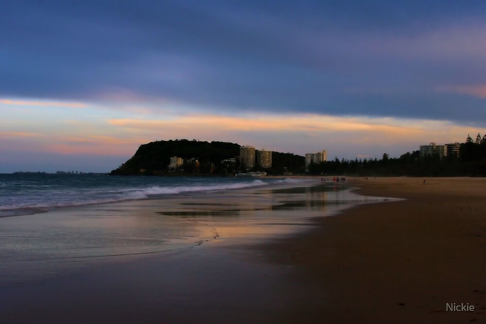 Afternoon On Burleigh Beach by Nickie