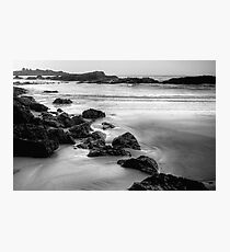 Main Beach Robe, at sunset, in monochrome Photographic Print