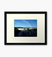 rainbow at Iguassu Falls Framed Print