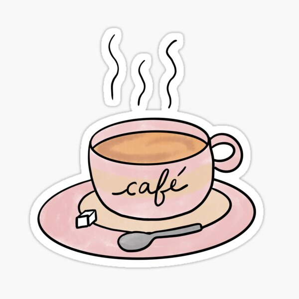 Coffee Cup / Cute Coffee Dates Sticker