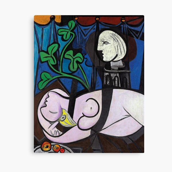 Picasso - Nude, Green Leaves and Bust, 1932 Artwork Canvas Print