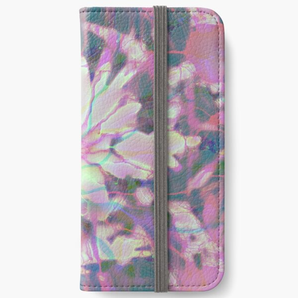 Floral abstraction iPhone Wallet