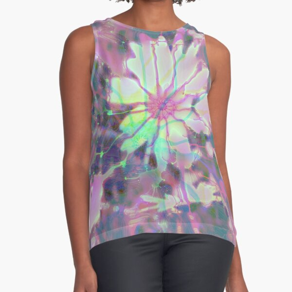 Floral abstraction Sleeveless Top