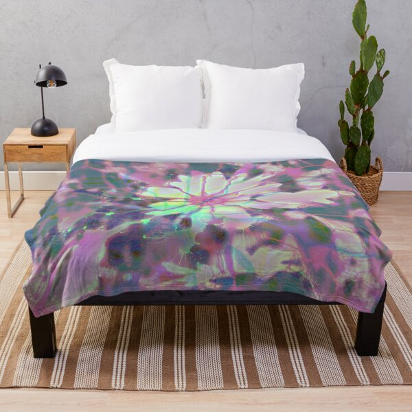 Floral abstraction Throw Blanket