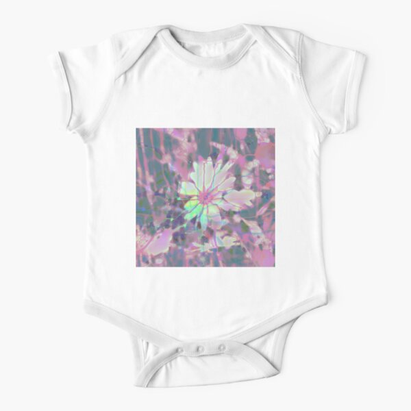Floral abstraction Short Sleeve Baby One-Piece