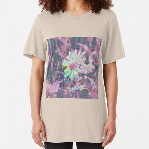 Floral abstraction Slim Fit T-Shirt