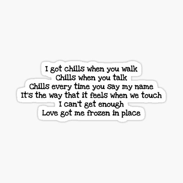 why don't we chills lyrics  Sticker