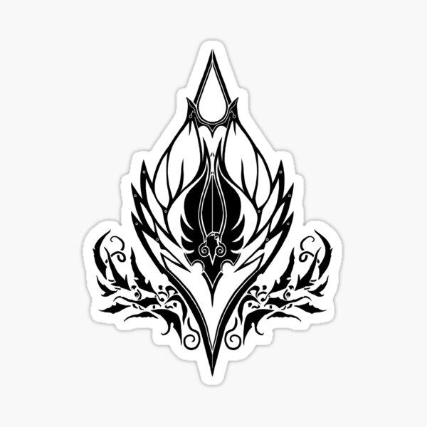 Sin'dorei/Quel'dorei Crest - Black 2 Sticker