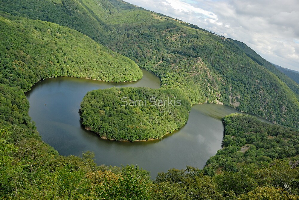 Queille meander Sioule River, France, Auvergne,  by Sami Sarkis