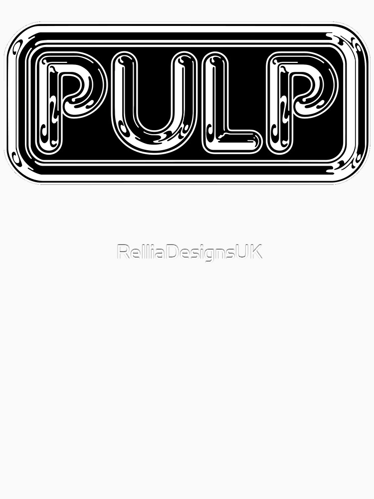 Pulp Rounded Black & White Fan Artwork & Logo - Prints & Clothing by RelliaDesignsUK