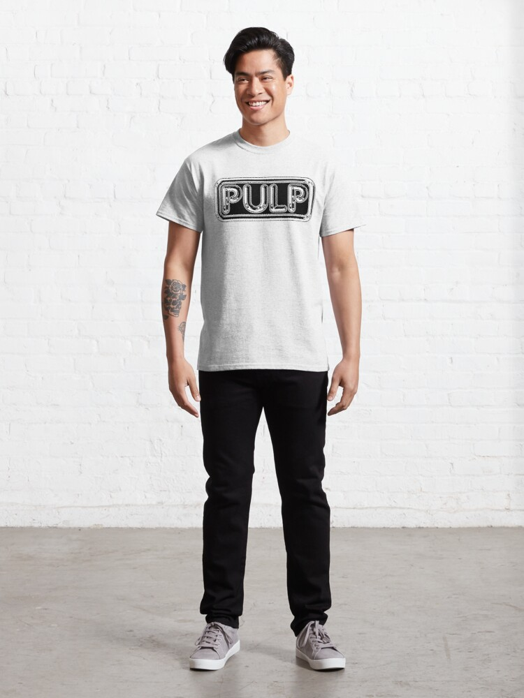 Alternate view of Pulp Rounded Black & White Fan Artwork & Logo - Prints & Clothing Classic T-Shirt