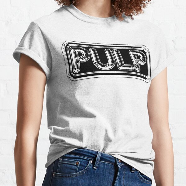 Pulp Rounded Black & White Fan Artwork & Logo - Prints & Clothing Classic T-Shirt