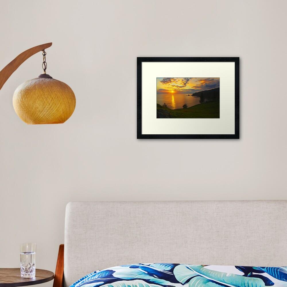 Duncome Bay Sunrise - Norfolk Island Framed Art Print