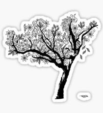 black and white tree Sticker