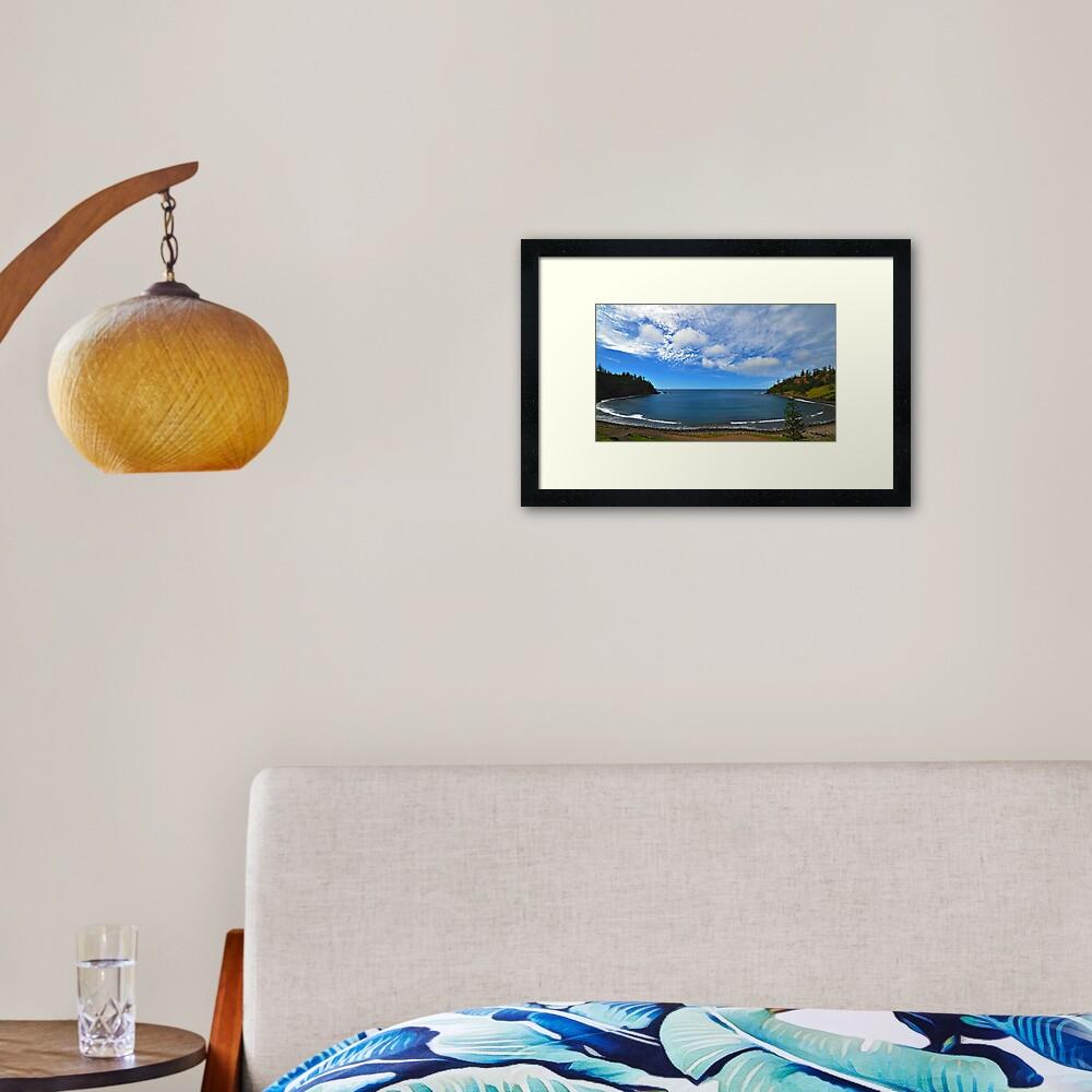 Ball Bay - Norfolk Island Framed Art Print