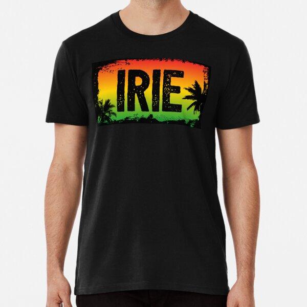 IRIE Rasta Flag Farben und Palmen Premium T-Shirt