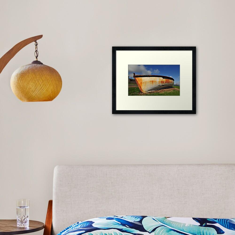 Lighter Boat - Norfolk Island Framed Art Print