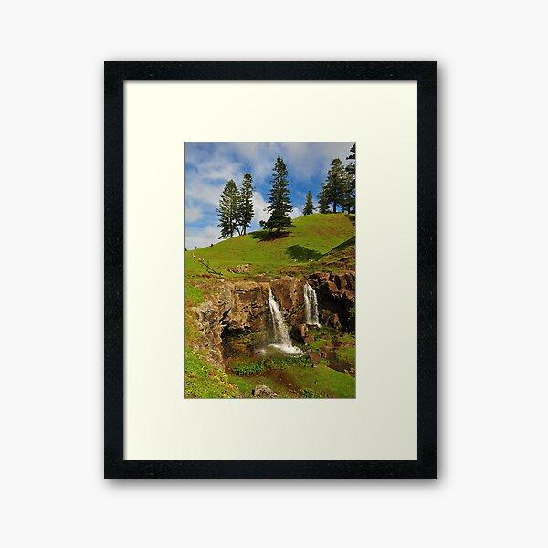 Cockpit Falls - Norfolk Island Framed Art Print