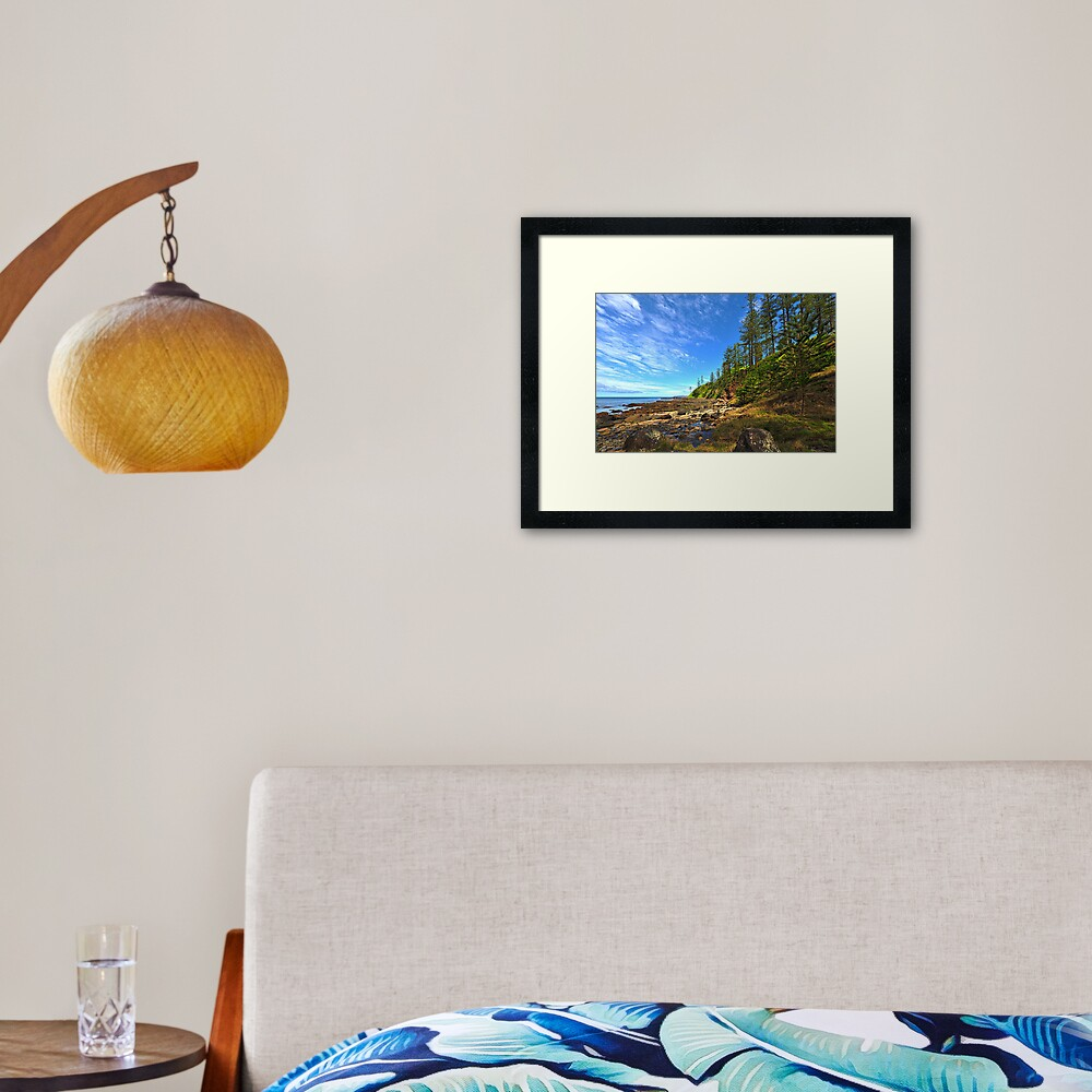 Creswick Bay - Norfolk Island Framed Art Print