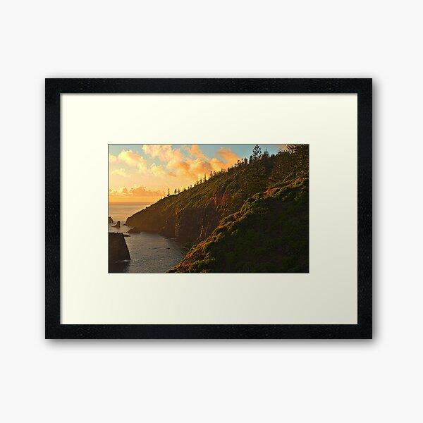 First Light - Norfolk Island Framed Art Print