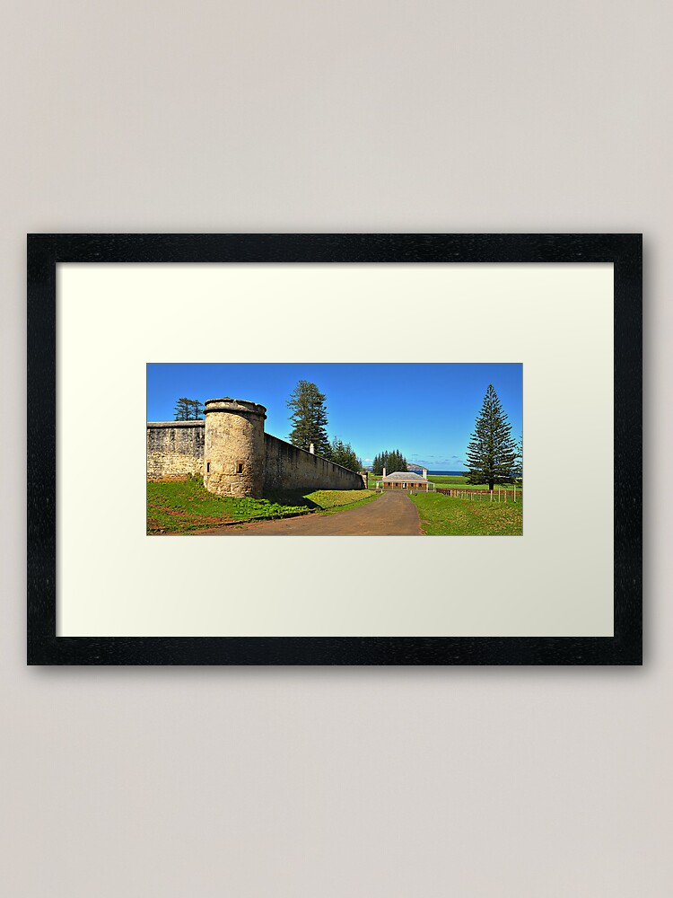 Alternate view of Kingston - Norfolk Island Framed Art Print