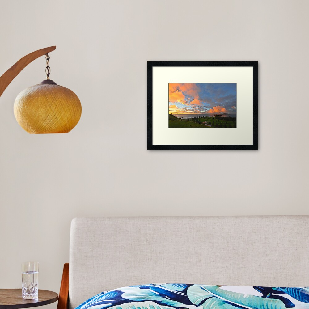 Sunrise, Kingston - Norfolk Island Framed Art Print