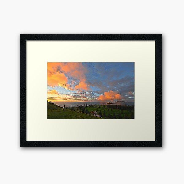 Sunrise, Kingston - Norfolk Island Framed Art Print