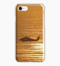 Sunset Helicopter  iPhone Case/Skin