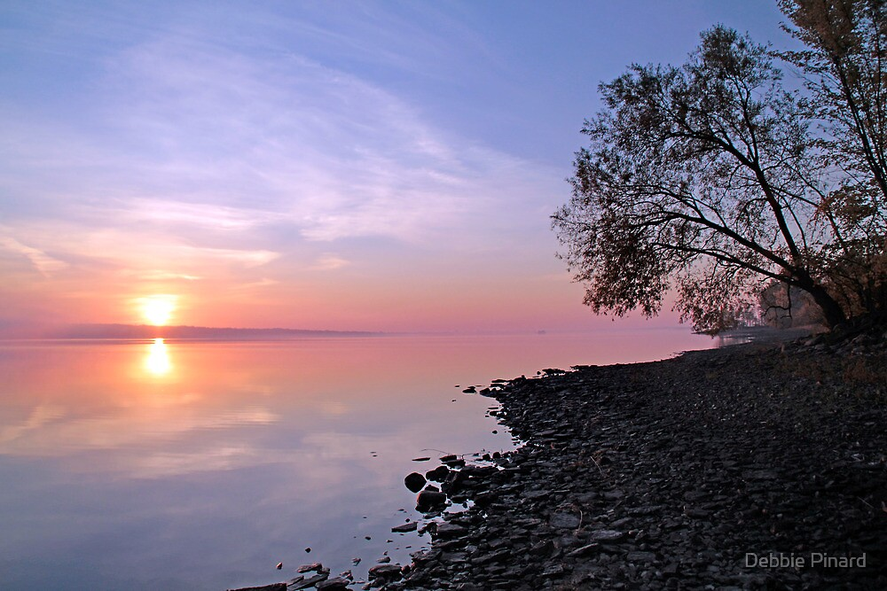 Sunrise - Ottawa River by Debbie Pinard