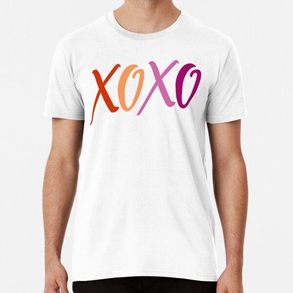 XOXO Lesbian Flag Premium T-Shirt