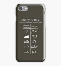 Sunny 16 Rule - White iPhone Case/Skin