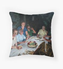 """The Last supper - oil on canvas - 72"""" x 52""""  Throw Pillow"""