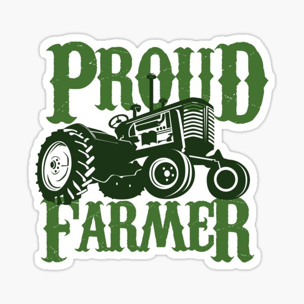 "sign market new /""I/'D RATHER BE FARMING/"" farmer decal BUMPER STICKER tractor"