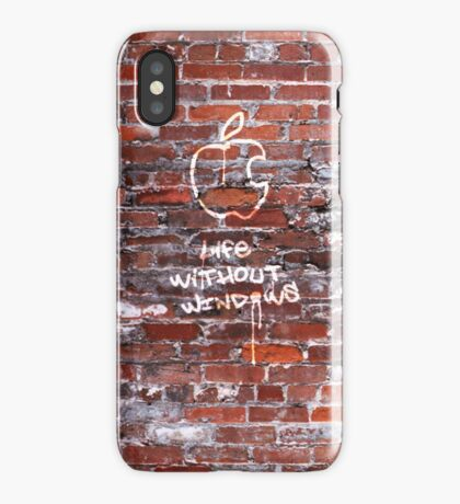 'Life Without Windows' Graffiti iPhone Case