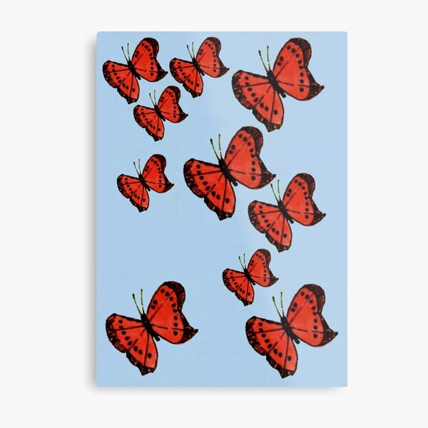 Flight of Butterflies Metal Print