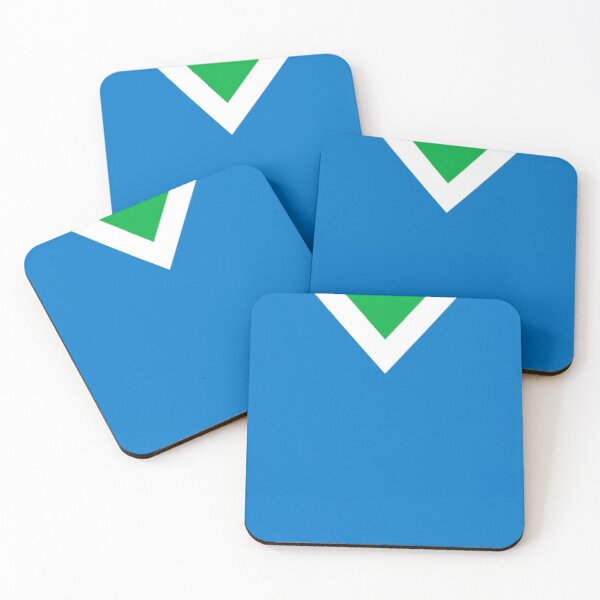 The Official International Vegan Flag Coasters (Set of 4)