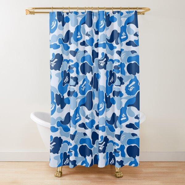 Blue Bape Camo Shower Curtain