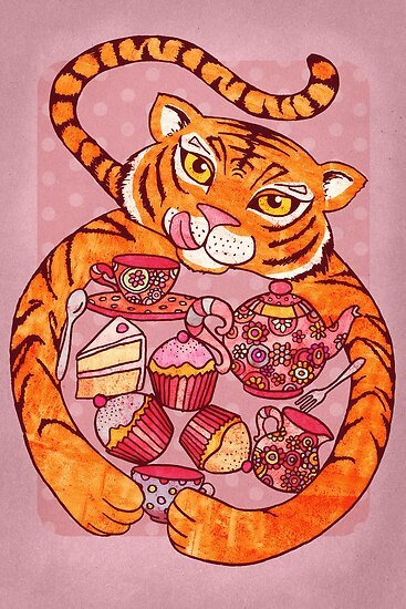 Tiger's Tea Party by micklyn