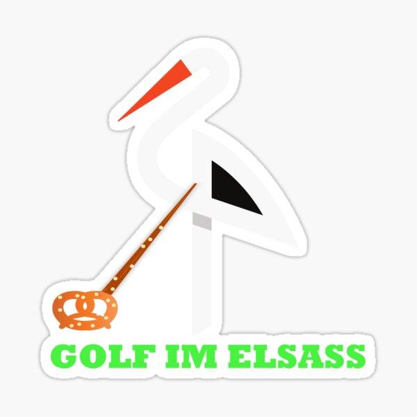 Golf im Elsass Sticker