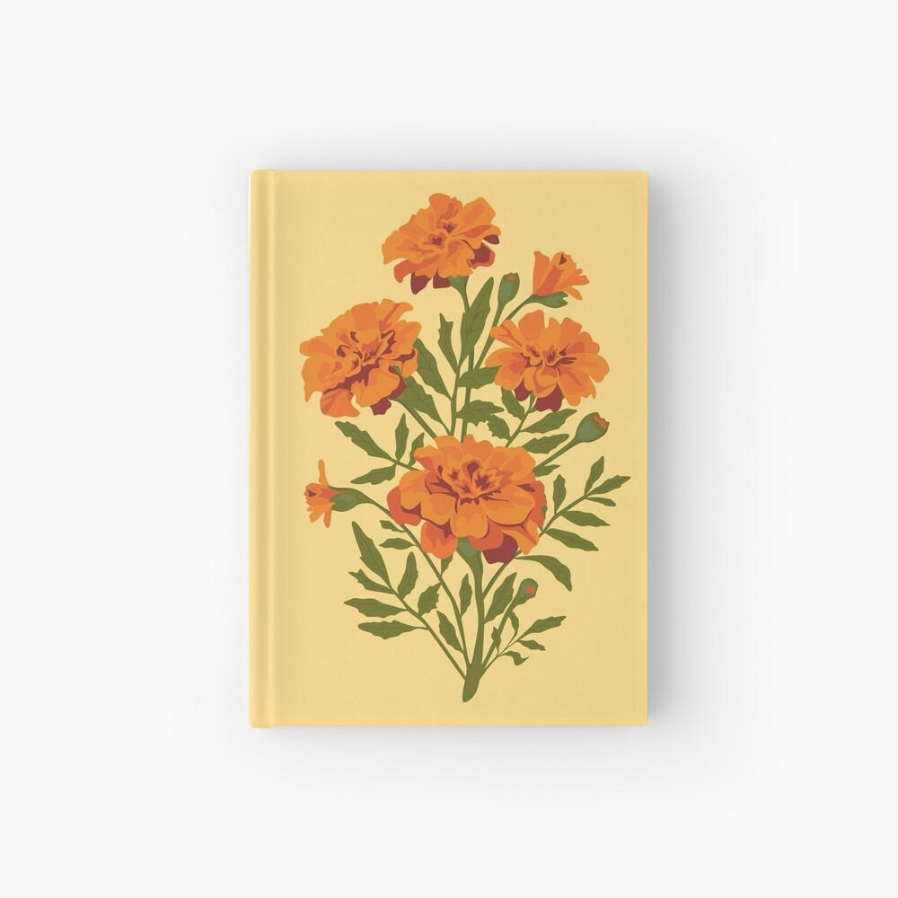 Marigold Flowers Hardcover Journal